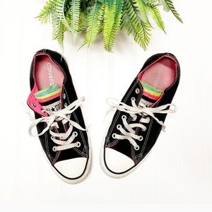 🎉Converse All Star Black Rainbow Classic Sneakers